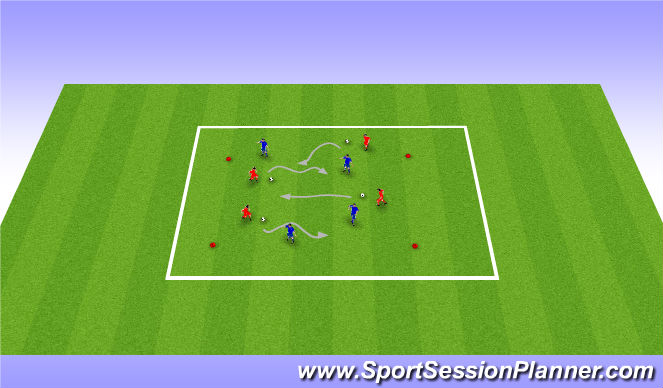 Football/Soccer Session Plan Drill (Colour): Attack of Crab Monsters