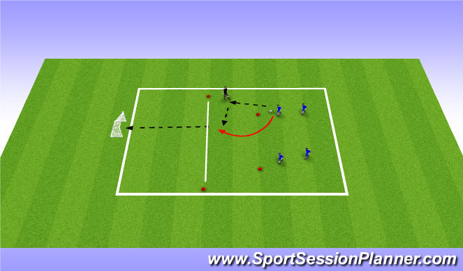 Football/Soccer Session Plan Drill (Colour): Mack 2