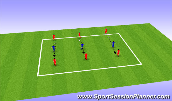 Football/Soccer Session Plan Drill (Colour): Tunnel Pass