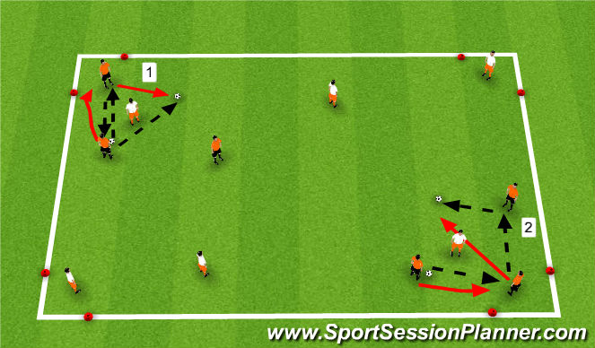 Football/Soccer Session Plan Drill (Colour): Get Outta Here!