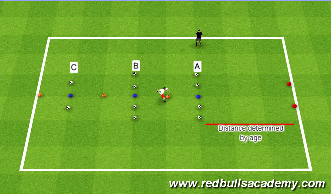Football/Soccer Session Plan Drill (Colour): Shills Challenge - Passing