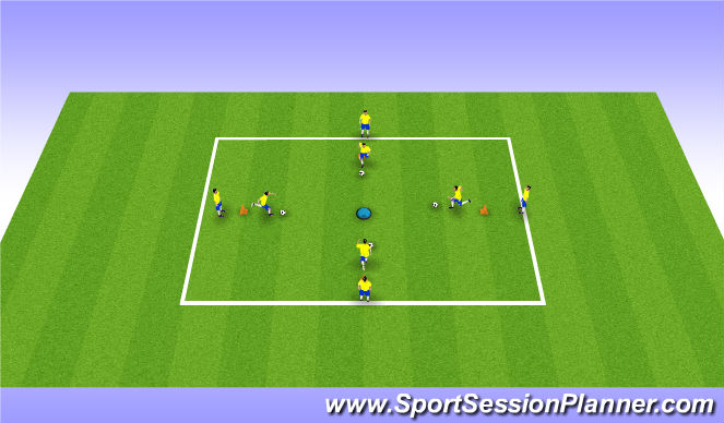 Football/Soccer Session Plan Drill (Colour): Repatition Turning Techniques