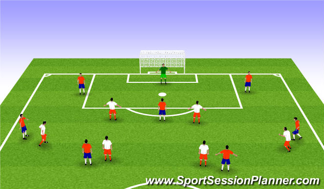 Football/Soccer Session Plan Drill (Colour): WE PHASE 1-2 final game