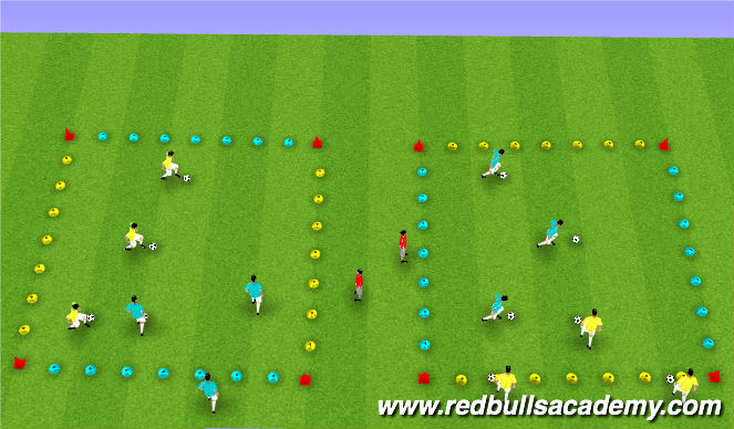 Football/Soccer Session Plan Drill (Colour): Intersection - WATCH OUT!