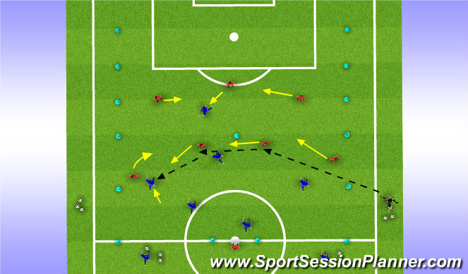 Football/Soccer Session Plan Drill (Colour): Expanded SS
