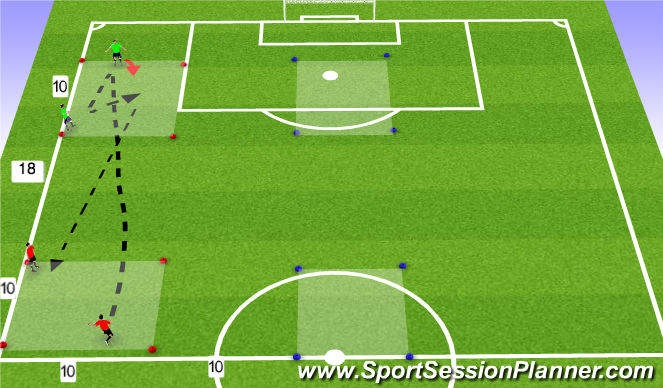 Football/Soccer Session Plan Drill (Colour): Services