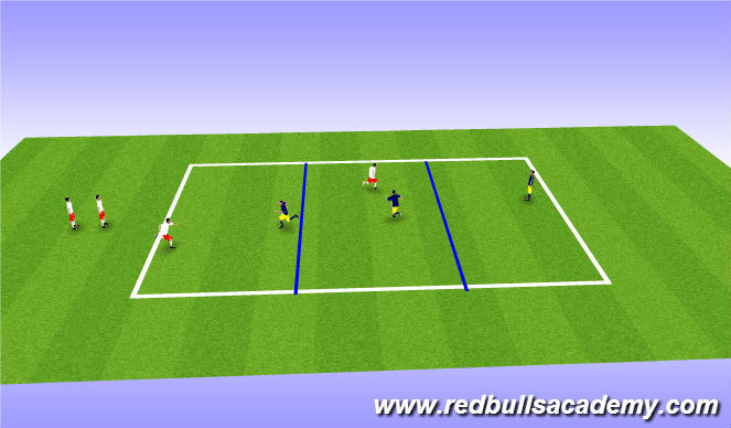 Football/Soccer Session Plan Drill (Colour): Gauntlet