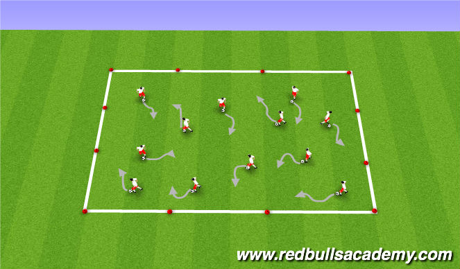 Football/Soccer Session Plan Drill (Colour): Basic Warm up