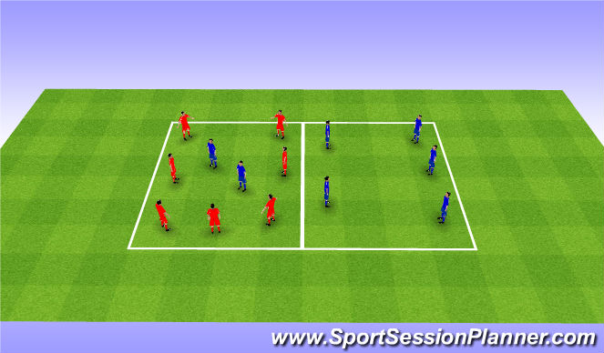 Football/Soccer Session Plan Drill (Colour): Rondo 4v2+2. Dziadek 7v2+2.