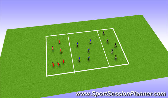 Football/Soccer Session Plan Drill (Colour): possesion overload game related