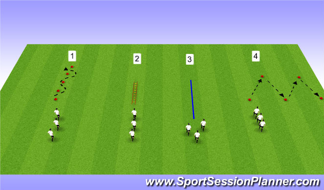 Football/Soccer Session Plan Drill (Colour): Movements w/o the Ball