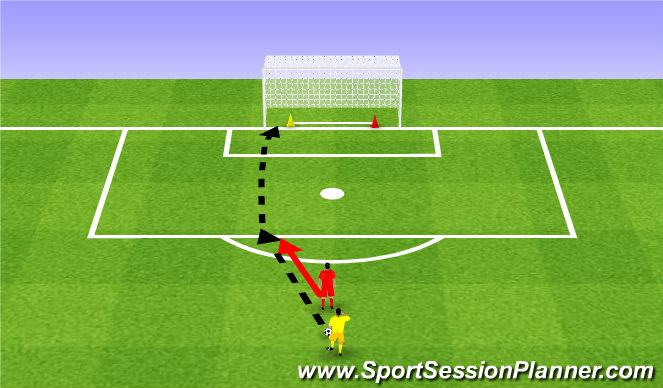 Football/Soccer Session Plan Drill (Colour): React and shoot. Reakcja i strzał