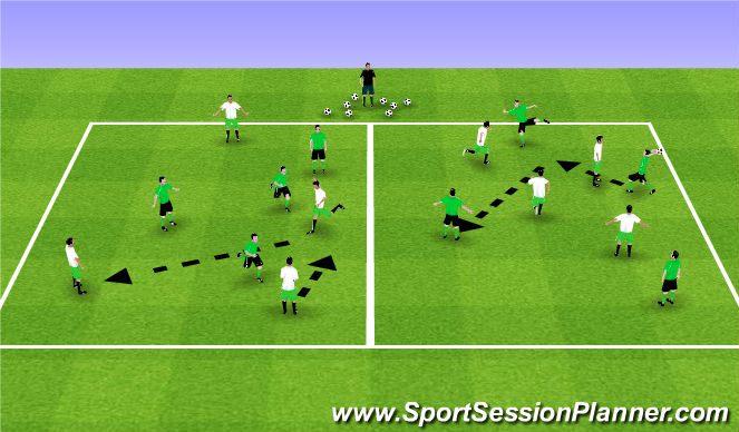 Football/Soccer Session Plan Drill (Colour): Warm-Up Games 4v4