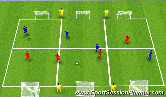 Football/Soccer Session Plan Drill (Colour): 4v4+4