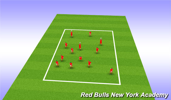 Football/Soccer Session Plan Drill (Colour): motor skill challenge