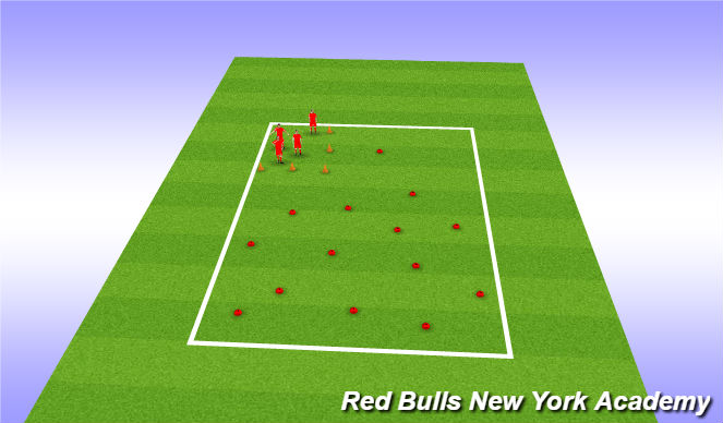 Football/Soccer Session Plan Drill (Colour): zoo catcher