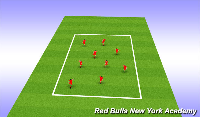 Football/Soccer Session Plan Drill (Colour): zoo tag