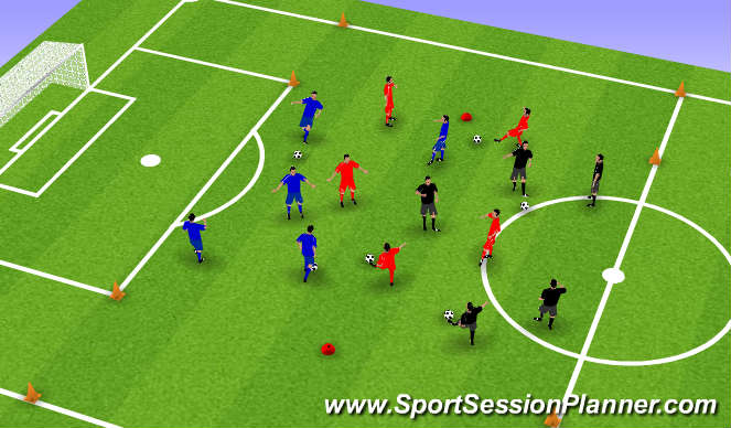 Football/Soccer Session Plan Drill (Colour): Original Setup