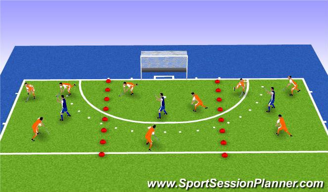 Hockey Session Plan Drill (Colour): balbezit