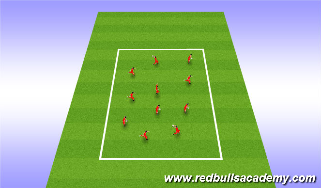 Football/Soccer Session Plan Drill (Colour): Warm up and intro