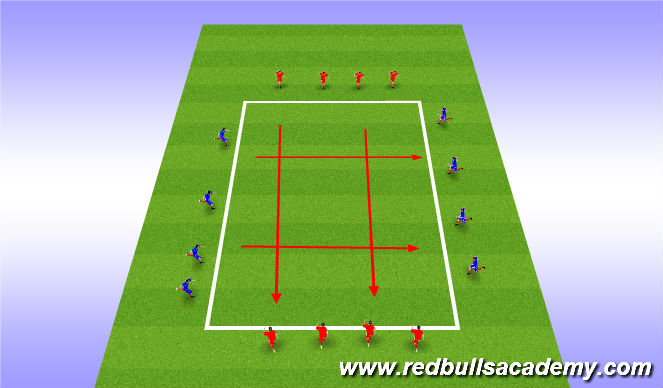 Football/Soccer Session Plan Drill (Colour): dribbling application
