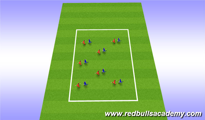 Football/Soccer Session Plan Drill (Colour): knee tag