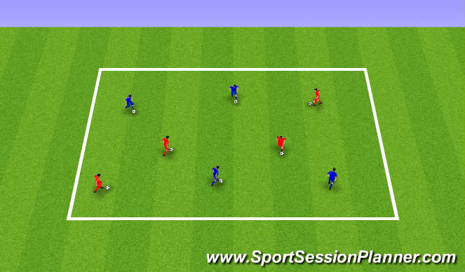 Football/Soccer Session Plan Drill (Colour): Animals