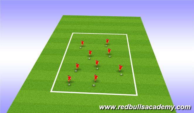Football/Soccer Session Plan Drill (Colour): animal free grid