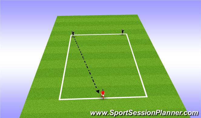 Football/Soccer Session Plan Drill (Colour): 2v1 Pressure Cover