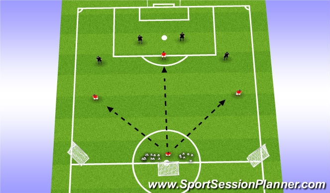 Football/Soccer Session Plan Drill (Colour): Equal Numbers