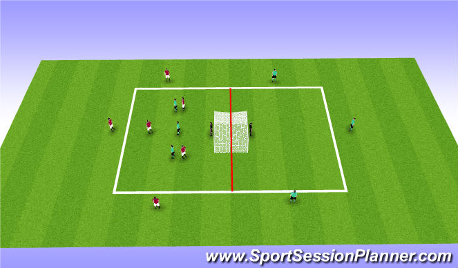 Football/Soccer Session Plan Drill (Colour): Development phase