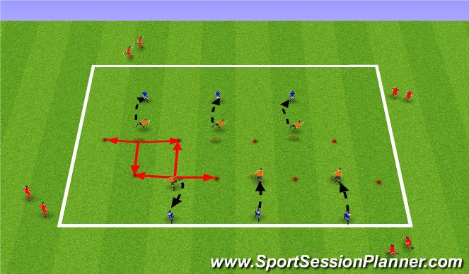 Football/Soccer Session Plan Drill (Colour): Líkamleg þjálfun.