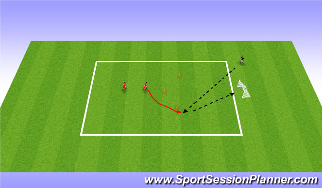 Football/Soccer Session Plan Drill (Colour): Corner Shot