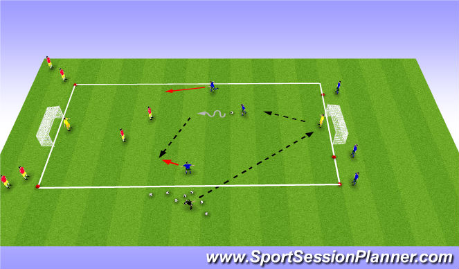 Football/Soccer Session Plan Drill (Colour): Overload Game #2