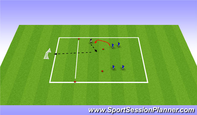 Football/Soccer Session Plan Drill (Colour): Mack 1