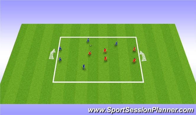 Football/Soccer Session Plan Drill (Colour): Change Soccer