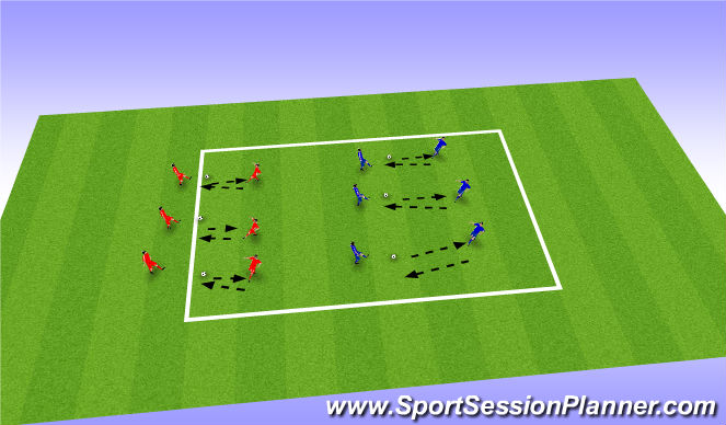 Football/Soccer Session Plan Drill (Colour): Push-Pass
