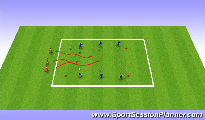 Football/Soccer Session Plan Drill (Colour): Ghost Busters