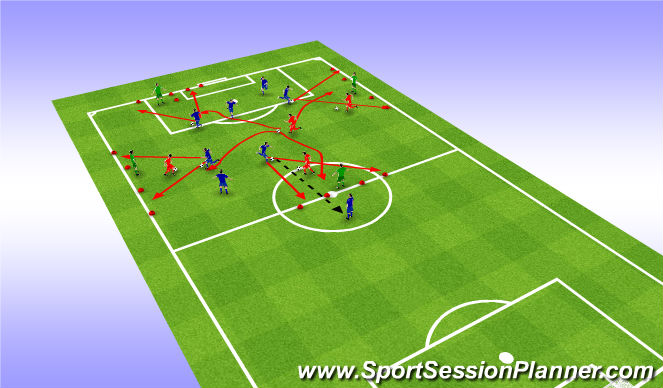 Football/Soccer Session Plan Drill (Colour): Variables and small sided games.
