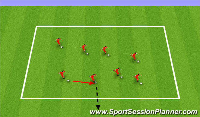 Football/Soccer Session Plan Drill (Colour): King of the ring. Wybijanie piłek.