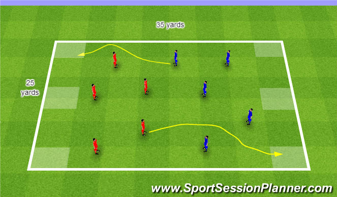 Football/Soccer Session Plan Drill (Colour): Team dribbling game