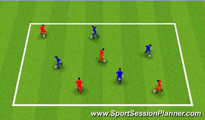 Football/Soccer Session Plan Drill (Colour): Walk The Dog