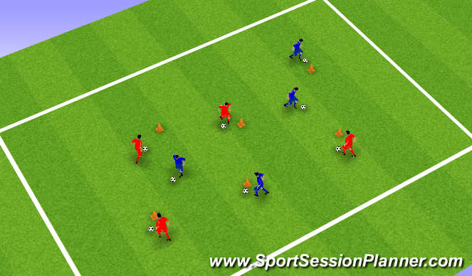 Football/Soccer Session Plan Drill (Colour): Coney Island
