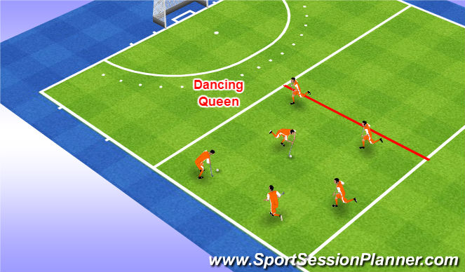 Hockey Session Plan Drill (Colour): Dancing Queen