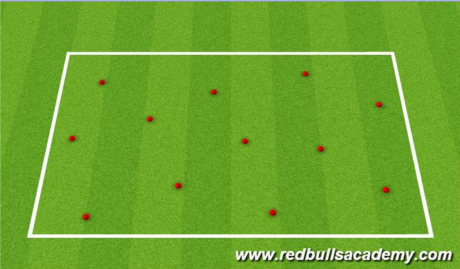 Football/Soccer Session Plan Drill (Colour): Messi/Ronaldo Cones
