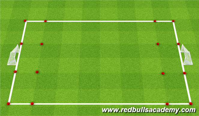 Football/Soccer Session Plan Drill (Colour): Dribbling Cond. Game