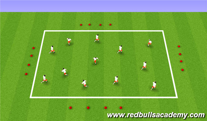 Football/Soccer Session Plan Drill (Colour): Practice 1 - SAQ