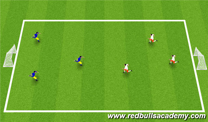 Football/Soccer Session Plan Drill (Colour): 3v3 mini tournament