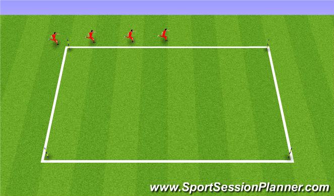 Football/Soccer Session Plan Drill (Colour): FARTLEK BASED RUN