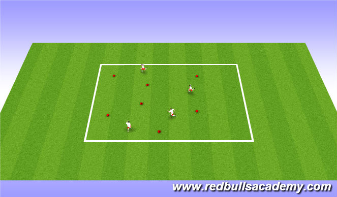 Football/Soccer Session Plan Drill (Colour): Warm up (Recognize pace)
